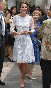 Kate Middleton vestido branco