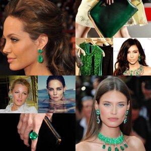 verde esmeralda acessorios