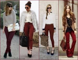 burgundy-pants inspiracao blog vr bijoux