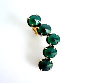 326 - Ear cuff vert vr bijoux