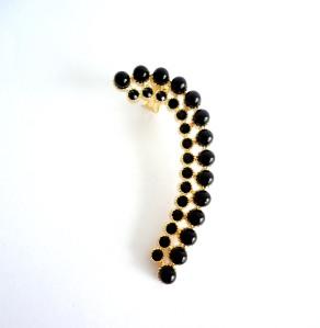 331 - Ear cuff black pearl vr bijoux2