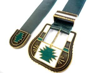 346 - cinto apache verde vr bijoux