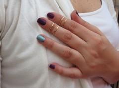 anéis fininhos skinny rings vr bijoux kit de anéis paloma
