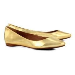 Sapatilha básica dourada