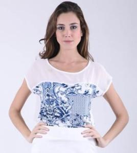 camiseta porcelain print