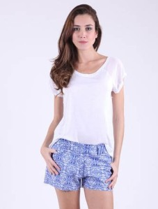shorts estampa de porcelana tendencia verao