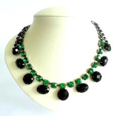 maxi colar glynn esmeralda e preto vr bijoux1