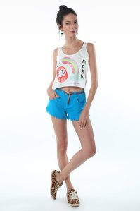 short barra desfiada azul color redley