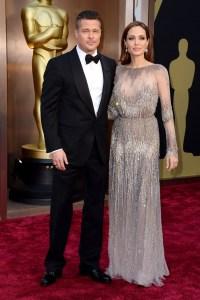 oscar 2014 Brad Pitt e Angelina Jolie.