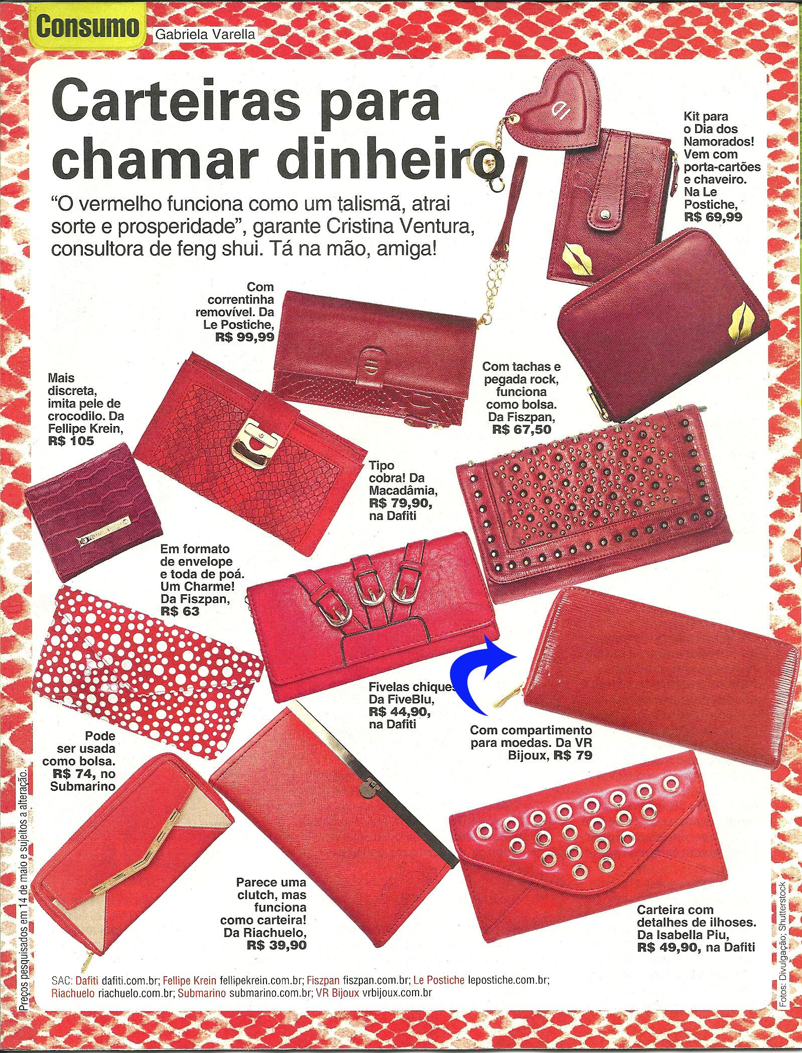 carteira vermelha da VR Bijoux foi indica como opção de compra  #AA2F21 1598 2098