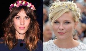 headband de flor acessorios-flores-cabelo-alexia-chung-kirsten-dunst