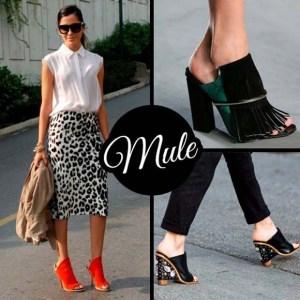 moda sapatos mule