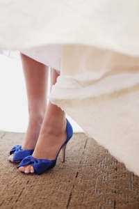 Blue Shoes Bride