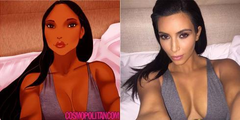 disney-ilustracoes-selfis-kimkardashian-001