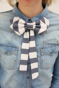 lenço como gravata borboleta