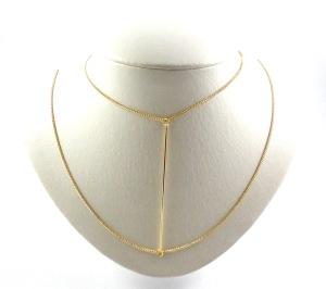 938 - Colar Carol Totalmente Demais dourado VR Bijoux