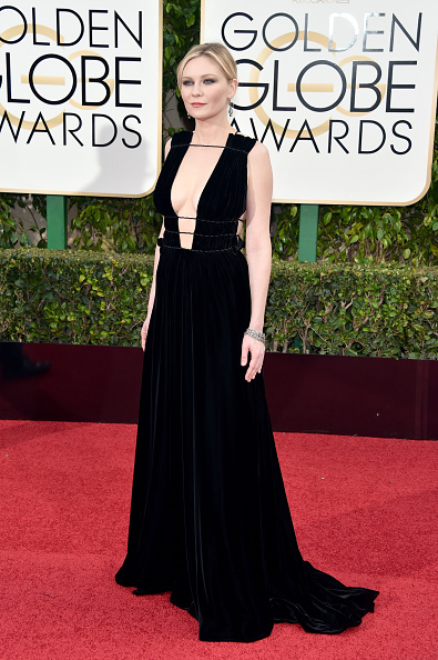 BEVERLY HILLS, CA - JANUARY 10: Actress Kirsten Dunst attends the 73rd Annual Golden Globe Awards held at the Beverly Hilton Hotel on January 10, 2016 in Beverly Hills, California. (Photo by John Shearer/Getty Images)