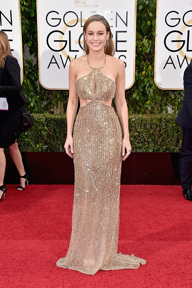 BEVERLY HILLS, CA - JANUARY 10: Actress Brie Larson attends the 73rd Annual Golden Globe Awards held at the Beverly Hilton Hotel on January 10, 2016 in Beverly Hills, California. (Photo by John Shearer/Getty Images)